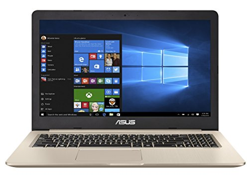 ASUS VivoBook Pro 15 N580VD (90NB0FL1-M00410) 39,6 cm (15.6 Zoll, UHD, matt) Laptop (Intel Core i7-7700HQ, 16GB RAM, 256GB SSD + 1TB, NVIDIA GTX1050 (4GB), Windows 10) gold metall