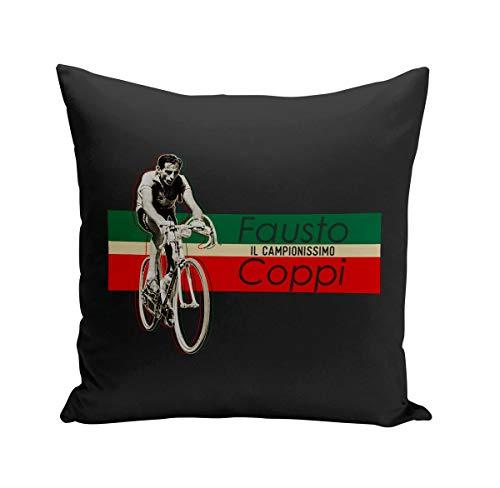 Coussin 40x40 cm Fausto Coppi Vintage Vélo France Cyclisme Tour