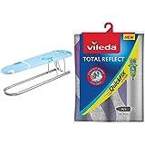Vileda 142692 Viva Selection - Tabla De Planchar para Mangas (53 X 13 Cm) + Total Reflect - Funda De Planchar Metálica, Color Gris, 120–130 X 38-45Cm