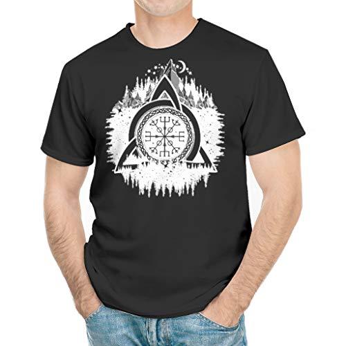 Odin Bergwald - Camiseta para hombre, ligera, diseño celta de casco del terror blanco XXXXL