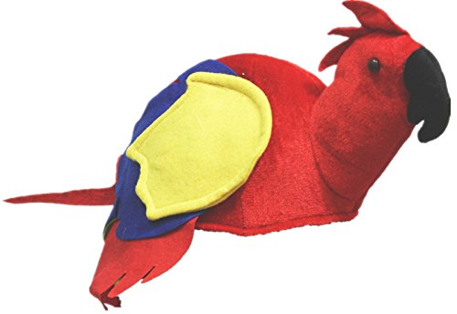 Petitebelle Red Parrot Soft Hat Unisex Costume Free Size (Red)
