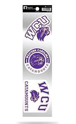 Western Carolina Catamounts WCU Triple Retro Throwback Spirit Decals Flat Vinyl Auto Home Sticker Sheet University of