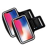 Brazalete movil Running Pack 2 uds Compatible con Todos los telefonos moviles de hasta 6' Pantalla Funda movil para Correr Brazalete Deportivo movil Porta movil Running Negro