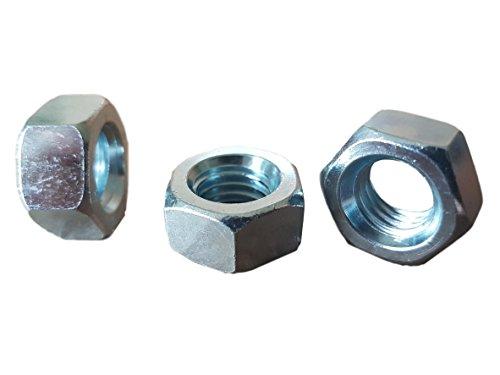 Muttern aus verzinktem Stahl, M4, 4 mm, DIN 934, Klasse 8, 100 Stück