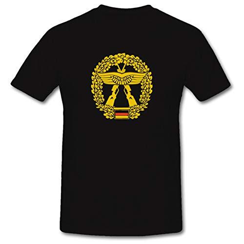 Luftwaffe Objektschutz Barettabzeichen Pionierschutz Bundeswehr Einheit Wappen Abzeichen Emblem - T Shirt #571, Farbe:Schwarz, Größe:Herren XXL