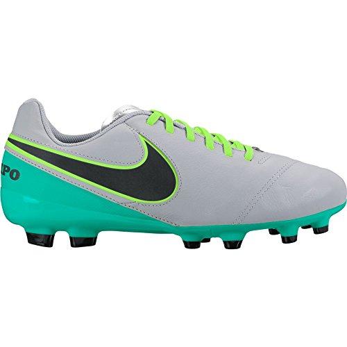 Nike JR Tiempo Legend Vi FG, Zapatos de Primeros Pasos Unisex niños, Gris (Wolf Grey/Black-Clear Jade), 27.5 EU