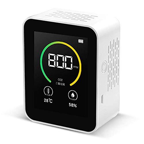 SNOWINSPRING Kohlendioxid-Detektor Gaskonzentration Inhalt Detektion Farbbildschirm Intelligente Luftdetektor Wei?