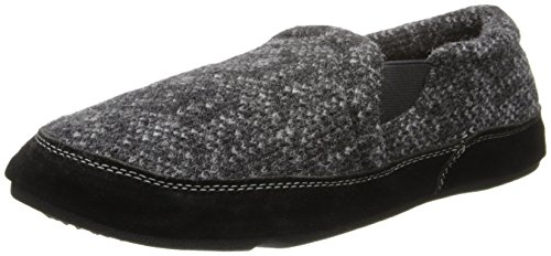 Acorn Men's Fave Gore Slipper, Charcoal Tweed, 10.5-11.5 Wide