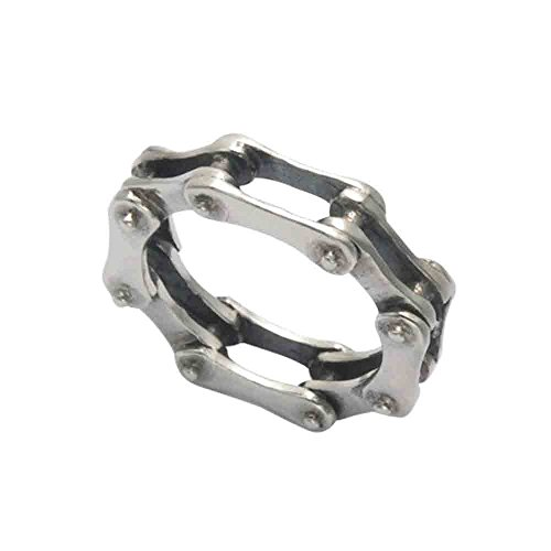 Wild Things Sterling Silver Bike Chain Ring (5)