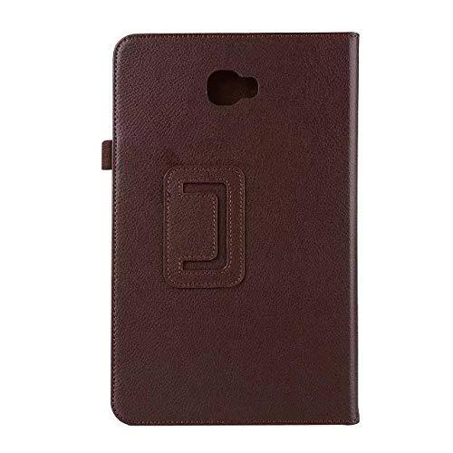 Hannuo Adecuado para Samsung Galaxy Tab A6 10.1 Tablet PC SM-T580 T585 T587 Funda Protectora de Cuero PU de Mano para Dormir/Despertar automático-marrón