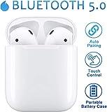 Auriculares Bluetooth 5.0 Auriculares Inalámbricos Control Táctil con Graves Profundos In-Ear Auriculares Bluetooth con Caja de Carga Rápida IPX5 Impermeables,para Android/iPhone Auriculares