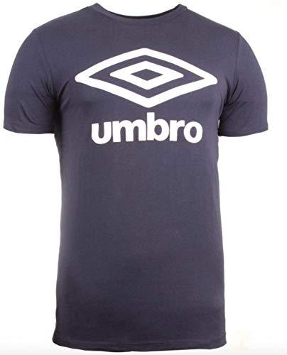 Umbro Fw Large Logo Cotton tee Camiseta, Azul (Dark Navy Y70), Medium (Tamaño del Fabricante:M) para Hombre