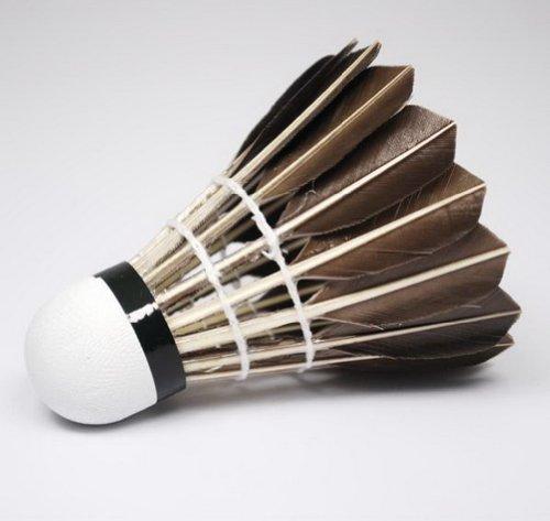 Set von 12 Black Feather Badminton Shuttle Meisterschaft Federbälle