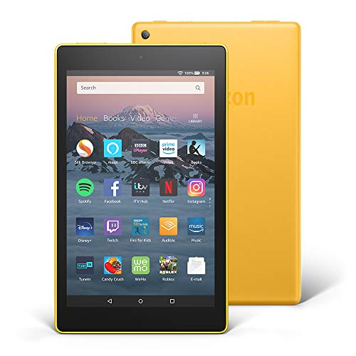 Fire HD 8 Tablet with Alexa, 8' HD Display, 32 GB, Yellow - with Ads (Previous Generation - 8th)