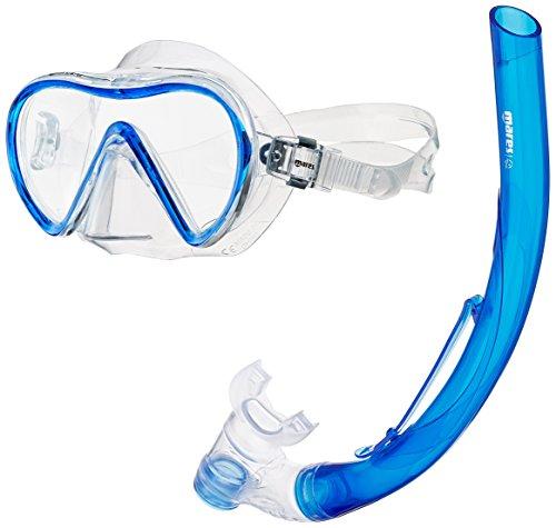 Mares Erwachsene Maske plus Schnorchel Set Stream, Blue/Clear, One size