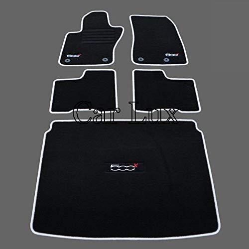 Car Lux ar04026 – kit de Coffre de Tapis de Voiture a Mesure et Edition Velours Passepoil Gris pour 500 X 500 X Depuis