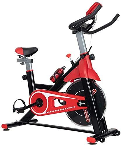 Spinning Bike Indoor Esercizio Bicicletta Verticale Fitness Bike può essere utilizzato per interni casa palestra carico 120KG Rosso Giallo Esercizio macchina Confortevole-1050x455x1220mm_Red