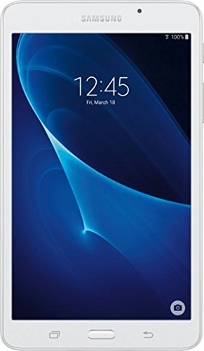 2018 Samsung Newest Galaxy Tab A Flagship 7 (1280 X 800) Tablet PC | T-Shark 2A Quad-Core | 1.5G | 8GB ROM | MicroSD Slot | Bluetooth | WIFI | GPS Enabled | Android 5.1 Lollipop OS (White)