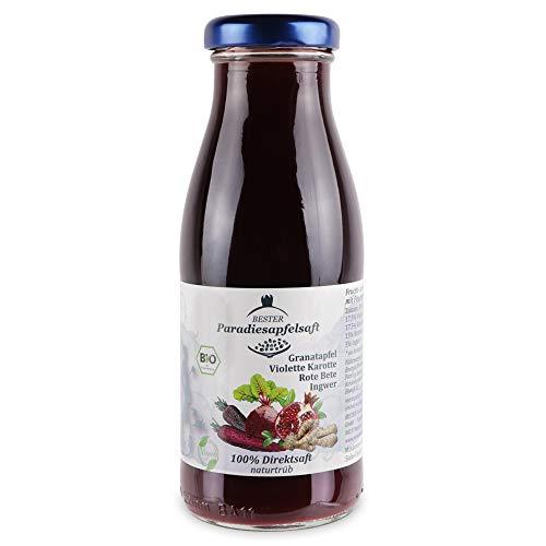 Granatapfel-Violette Karotte-Rote Bete-Ingwer - 100% Bio-Direktsaft (naturtrüb) - 12 x 250 ml
