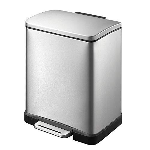 EKO E-Cube Poubelle à Pédale Métal Inox 26 x 29 x 36 cm 12 litres