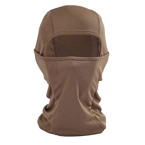 Ruiuzi Pasamontañas Máscara Facial Protección UV para Hombres Mujeres Ski Sun Hood Máscaras tácticas para esquí, Ciclismo, Motocicleta, Pesca, Carrera, Entrenamiento táctico al Aire Libre (café)