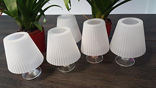 Solutions GMS32-04618 Lampenschirme aus Silikon, Weiß, 10, 6 x 13, 4 x 10, 6 cm