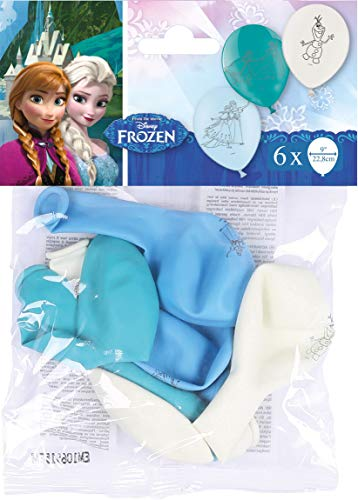 amscan 8022870 999231 - Latexballons Frozen, 6 Stück, Eiskönigin, Luftballons