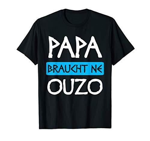 Herren Ouzo Schnaps Griechenland Grieche Geschenk T-Shirt
