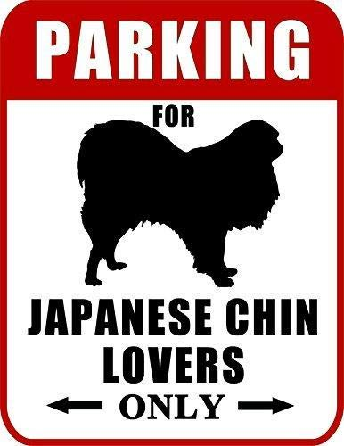 2 Count Top Shelf Novelties Parking for Japanese Chin Lovers Only Dog Sign SP2060