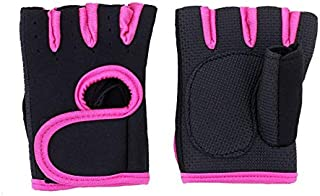 Sports Fitness Half Finger Glove for Women Body Building Weight Lifting Excise Gloves Hollow Breathable Anti Slip Gym Fing...