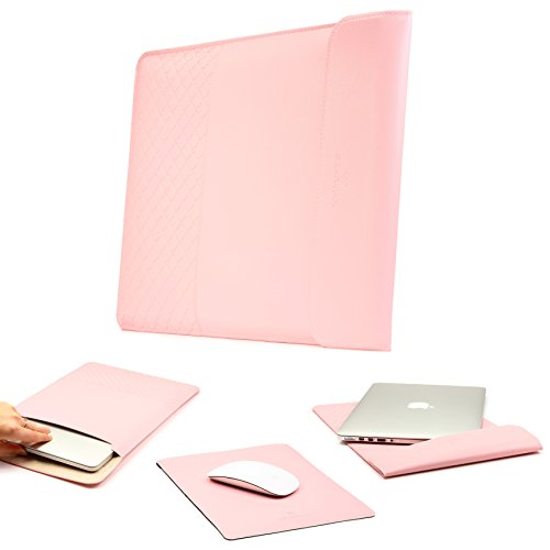 Urcover UNIVERSAL Ultra Thin 15 Zoll (47 cm) Mac-Book Tasche Hülle Sleeve | Rosa | Notebook Cover Laptop Case Ultrabook Schutztasche Tablet Etui für MacBook Pro UVM.
