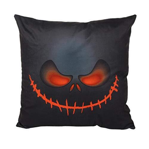 Cinnamou Mode 45 * 45 cm Halloween Taie d'oreiller Canapé Taille Jet Coussin Couverture Décor À La Maison Taie d'oreiller (B)