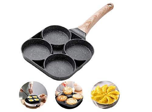 SartéN SartéN Antiadherente Para Panqueques SartéN Para Hamburguesas Con Huevo Frito Con 4 Orificios