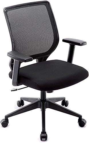 IntimaTe WM Heart Silla de oficina, silla de escritorio, silla ergonómica para computadora, silla de malla giratoria, silla de escritorio transpirable, sillas de computadora de espalda media (negro)