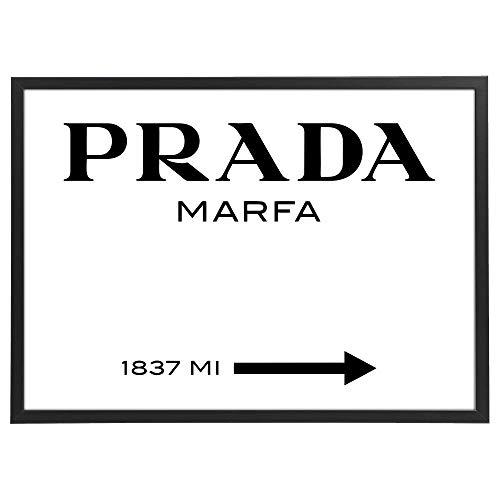 Quadro Marfa con Cornice - Orizzontale - varie dimensioni vari colori Made in Italy - riferimento all'opera d'arte di critica al consumismo di Marfa (Texas)