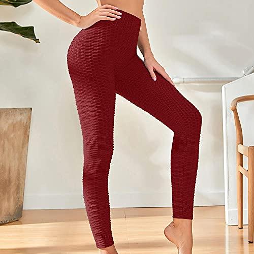 WENHUA Pantaloni Pantaloni Fitness Pantaloni da Yoga, Leggings di Ricambio Traspiranti a Vita Alta sui Fianchi,-Red_M, Tuta Sportiva da Donna Leggings Slim Abbigliamento