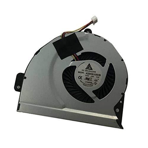 Shiwaki Enfriador de CPU Interna Ventilador de CPU de Laptop para ASUS A43 X53S A53S Series
