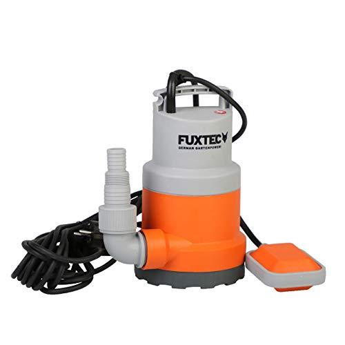FUXTEC Tauchpumpe Schmutzwasserpumpe Wasserpumpe 250 Watt, max. 6000 l/h, max. 6 m Förderhöhe, Fremdkörper bis 0,5cm, integrierter Schwimmerschalter