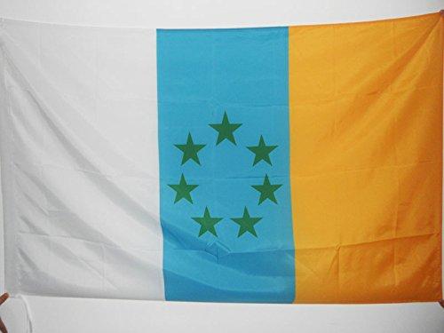 AZ FLAG Bandera de CANARIAS INDEPENDENTISTA 150x90cm para Palo - Bandera NACIONALISMO Canario - NACIONALISTA 90 x 150 cm