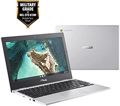 "ASUS Chromebook CX1, 11.6"" HD NanoEdge Display, Intel Celeron N3350 Processor, 32GB eMMC, 4GB RAM, Spill-resistant Keyboard, Chrome OS, Transparent Silver, CX1100CNA-AS42 WeeklyReviewer"