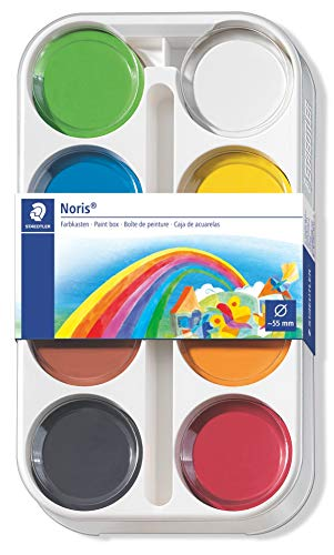 STAEDTLER 8871 K8 - Pack de 8 pastillas de acuarela