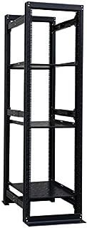 42U 19'' 4 Post Open Frame Adjustable IT Network Data Server Rack Enclosure with 3 Shelves