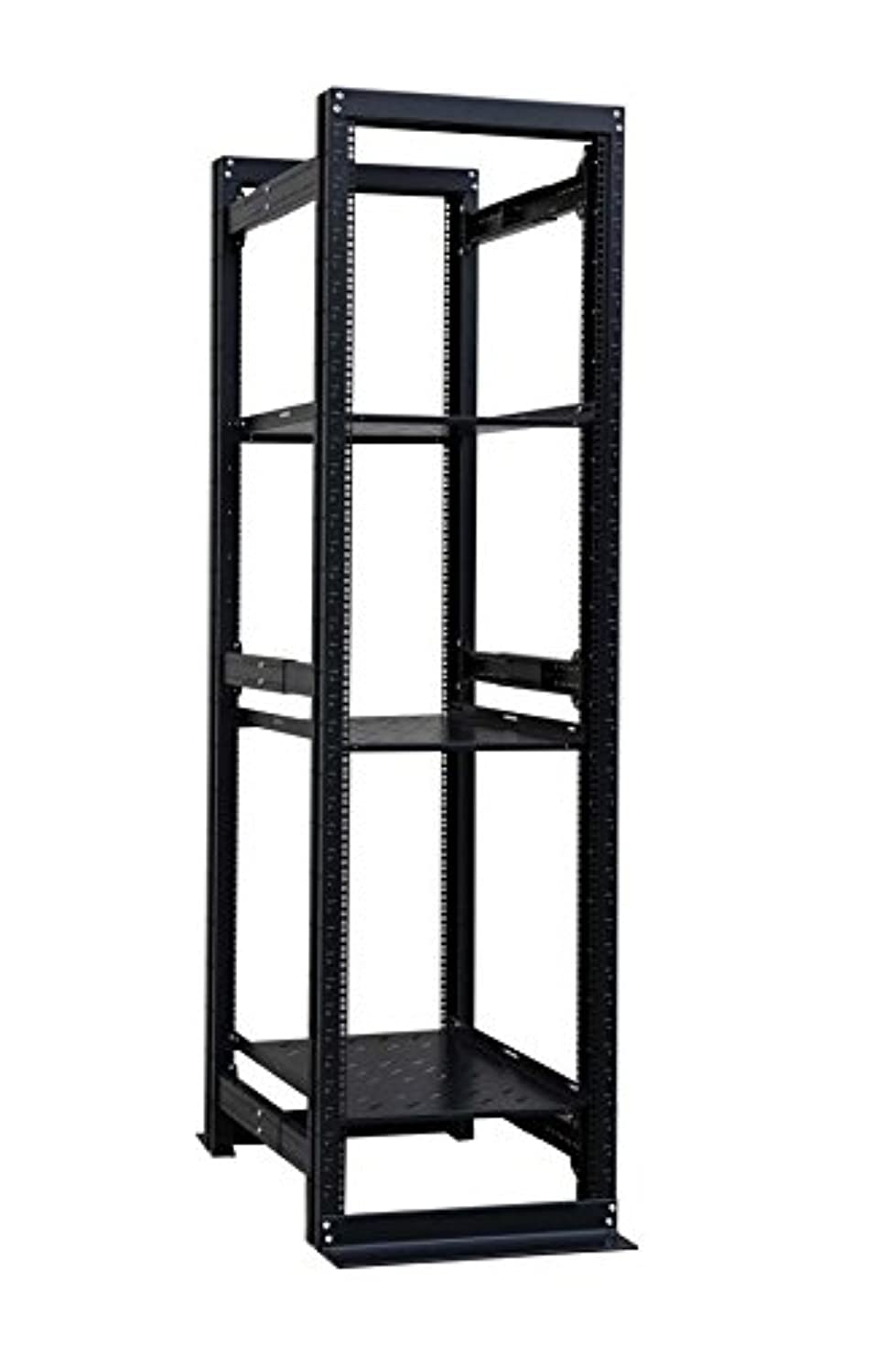 Raising Electronics Server Rack 4 Post Open Rack Frame Rack Enclosure 19 Inch Adjustable Depth Cold Rolled Steel with 3 Shelve(42U,82Inch Height)