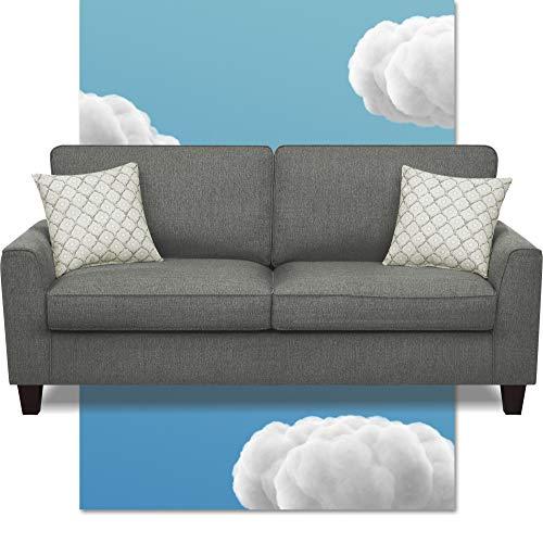 "73"" Deep Seating Astoria Sofa Dark Gray - Serta"