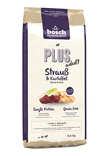 bosch HPC PLUS Strauß & Kartoffel | Hundetrockenfutter für ausgewachsene Hunde aller Rassen | Single Protein | Grain-Free | 1 x 12.5 kg