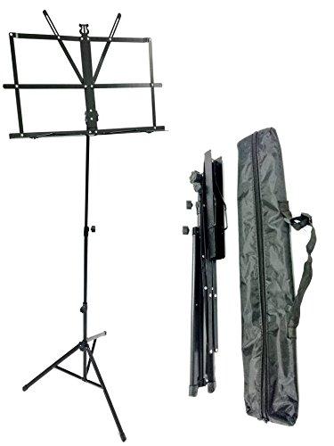 TriEcoWorld - Soporte de metal plegable para partituras, con bolsa de transporte