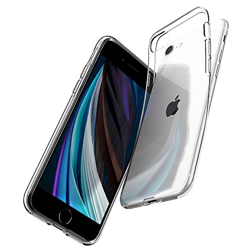 Spigen Liquid Crystal Kompatibel mit iPhone SE 2020 Hülle, iPhone 8/7 Hülle Transparent Silikon Handyhülle Schutzhülle Hülle Crystal Clear 042CS20435