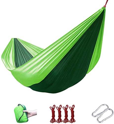 AJH Lit de balançoire Portable, hamac en Nylon de Parachute de 230 * 85cm 210T, hamac Portable pour la randonnée, Voyage, Plage, Cour