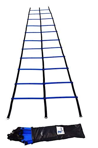 Product Image 1: Cintz Speed Ladder- Blue Dual Rungs Agility Ladder Soccer Training Ladder – Heavy Duty