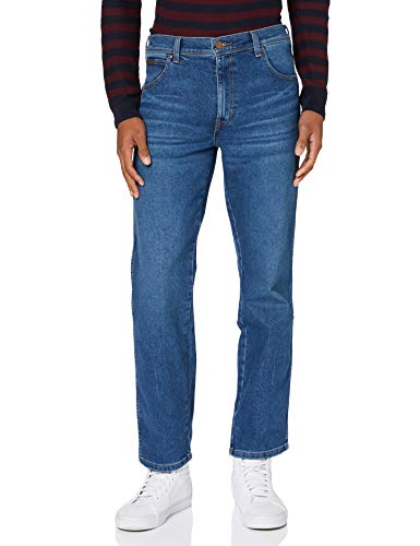 Wrangler Texas Contrast Jeans, Antigelo, 38W / 32L Uomo